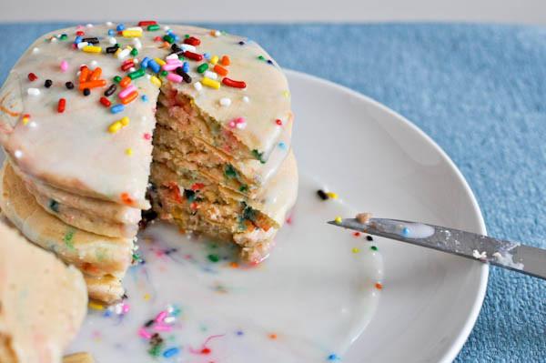 Cake Batter Pancakes  Cake Batter Pancakes