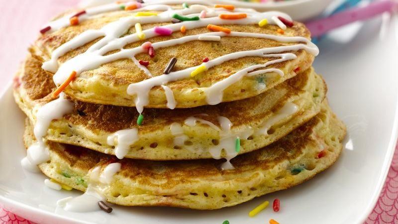 Cake Batter Pancakes  Cake Batter Pancakes recipe from Betty Crocker