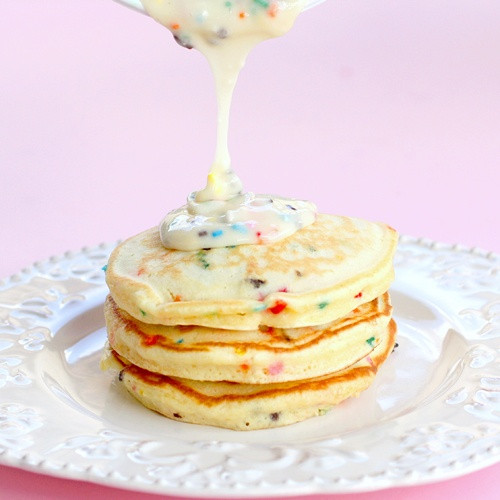 Cake Batter Pancakes  Birthday Girl