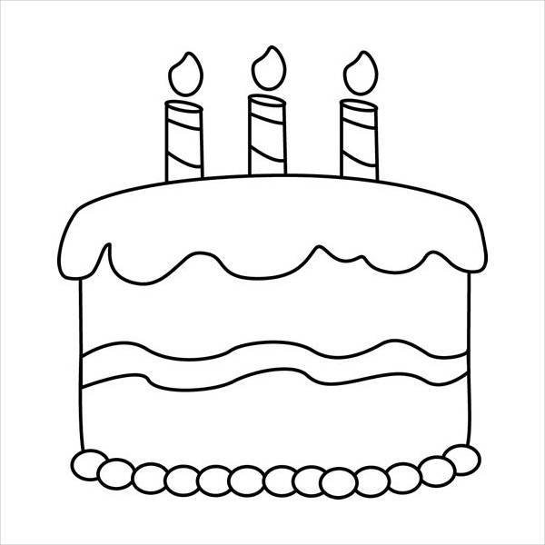 Cake Clipart Black And White  12 Birthday Cake Clip Arts Free Vector EPS JPG PNG
