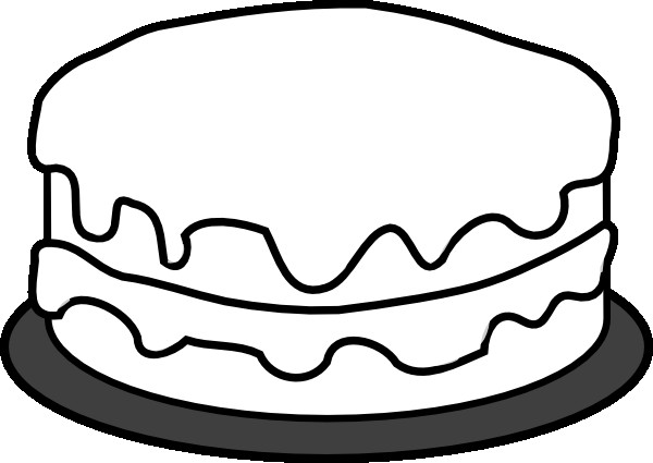 Cake Clipart Black And White  Cake Clip Art at Clker vector clip art online