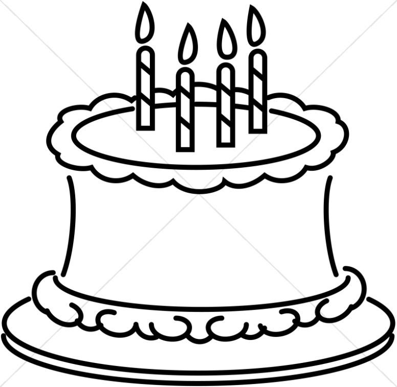 Cake Clipart Black And White  Cake clipart line art Pencil and in color cake clipart