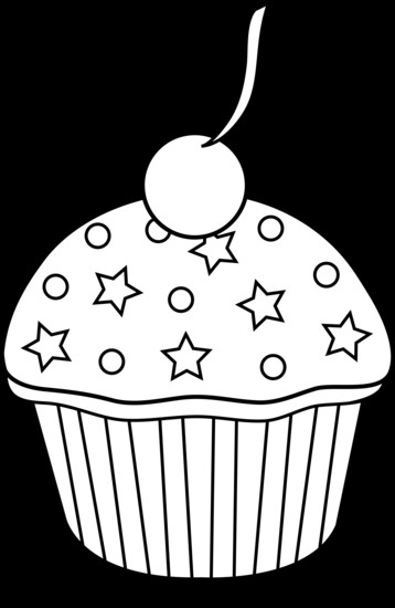 Cake Clipart Black And White  Cake black and white black and white clipart cake
