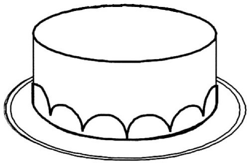 Cake Clipart Black And White  Cake black and white cake clipart without candles black