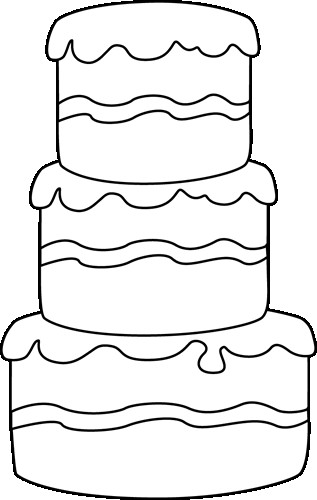 Cake Clipart Black And White  Cake black and white happy birthday cake clipart black and