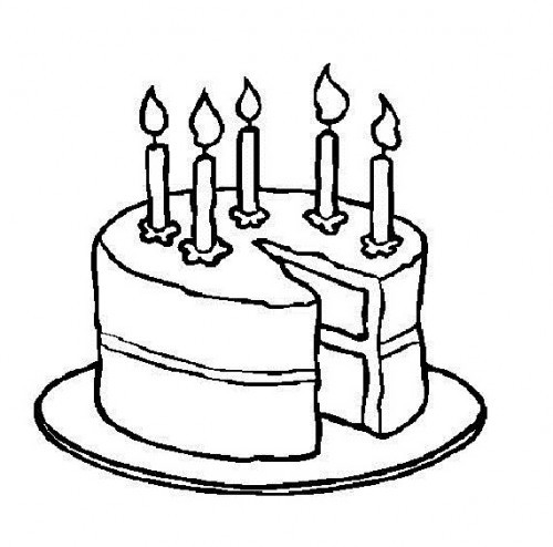 Cake Clipart Black And White  Birthday Clipart Black And White 61 cliparts