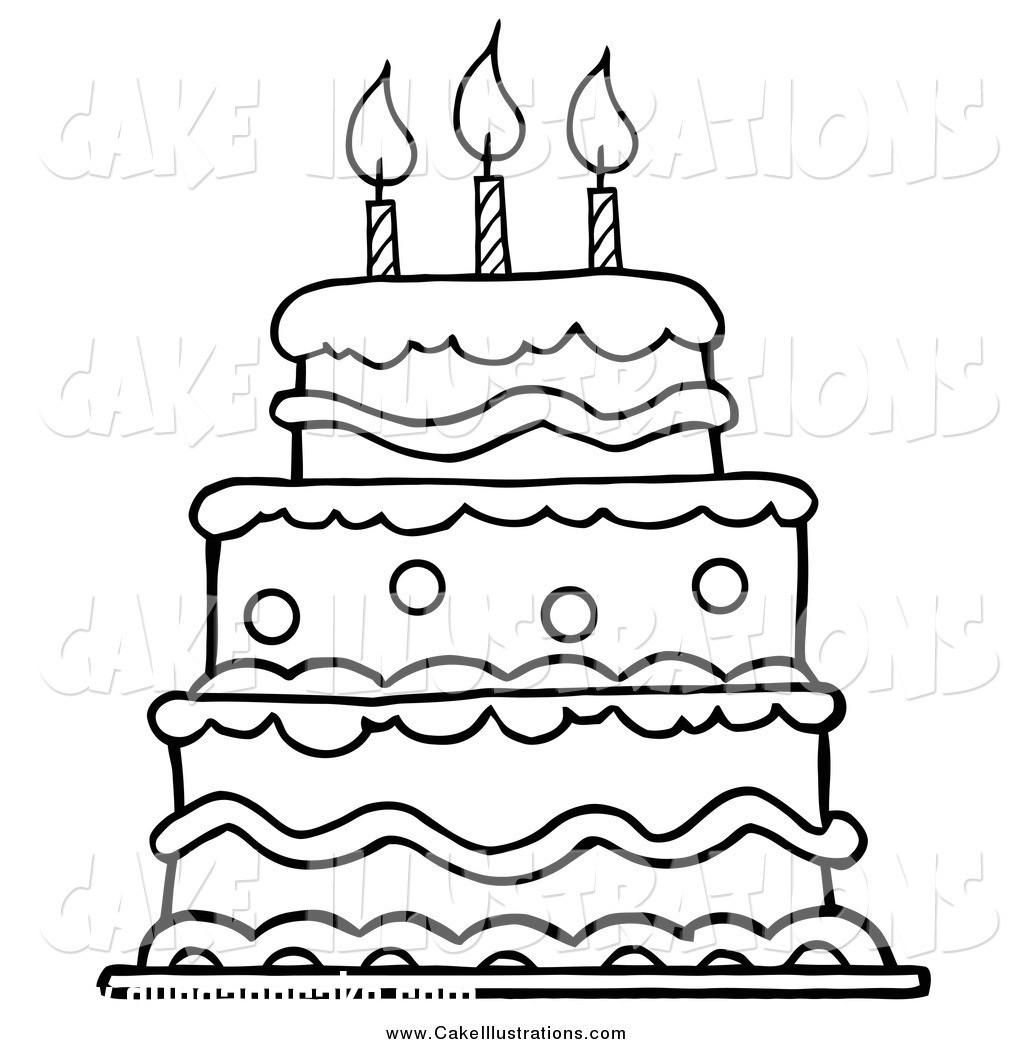 Cake Clipart Black And White  Happy Birthday Clipart Black And White cilpart
