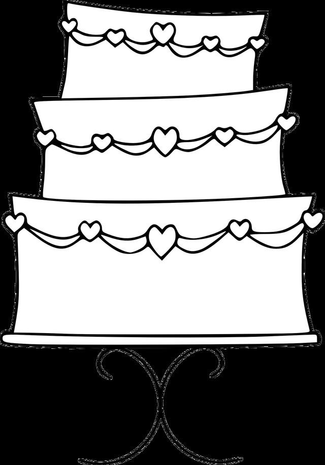 Cake Clipart Black And White  Wedding Cake Clipart in Black And White – 101 Clip Art