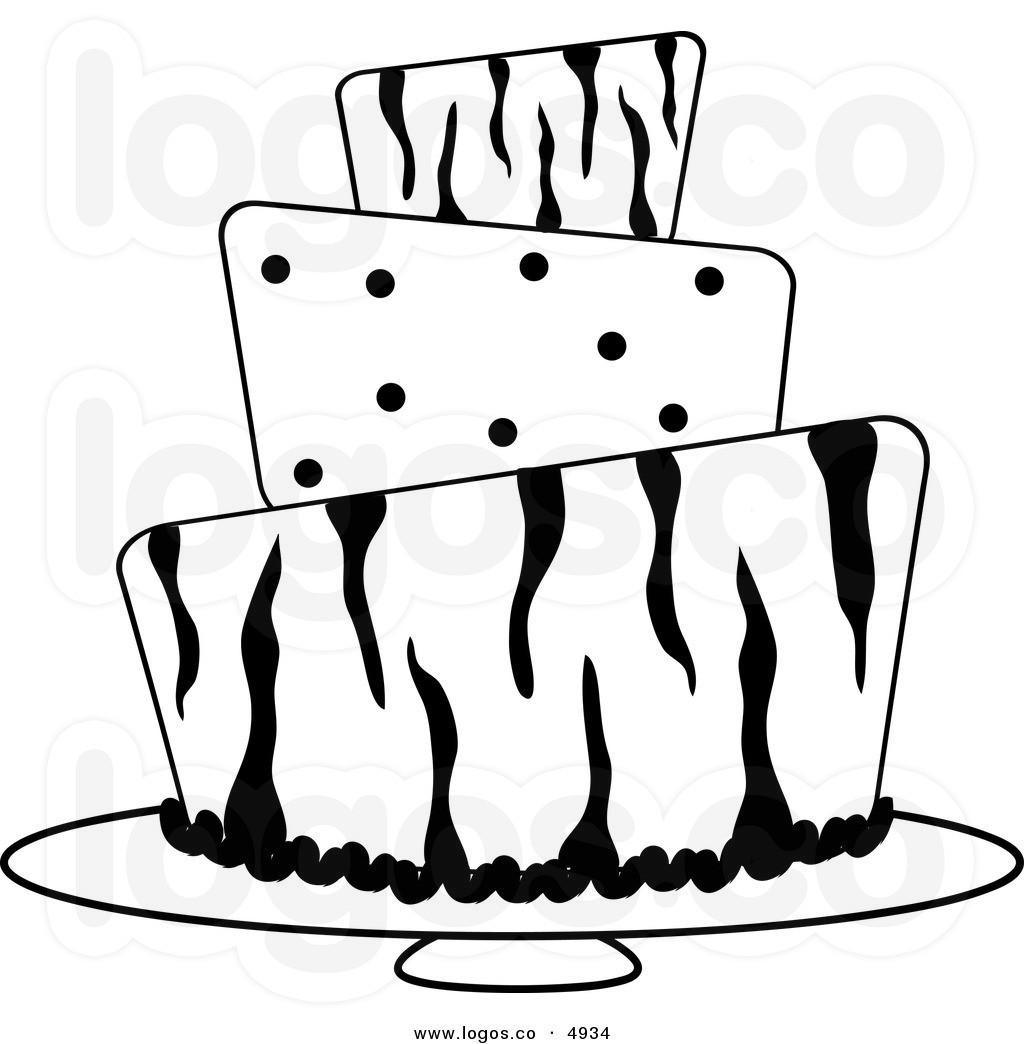 Cake Clipart Black And White  Black And White Wedding Cake Clip Art