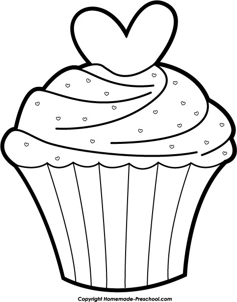 Cake Clipart Black And White  Cake black and white cup cake clipart black and white