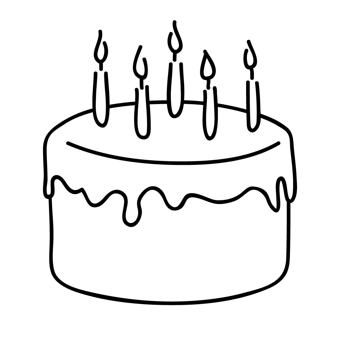 Cake Clipart Black And White  Free Birthday Cake Clip Art