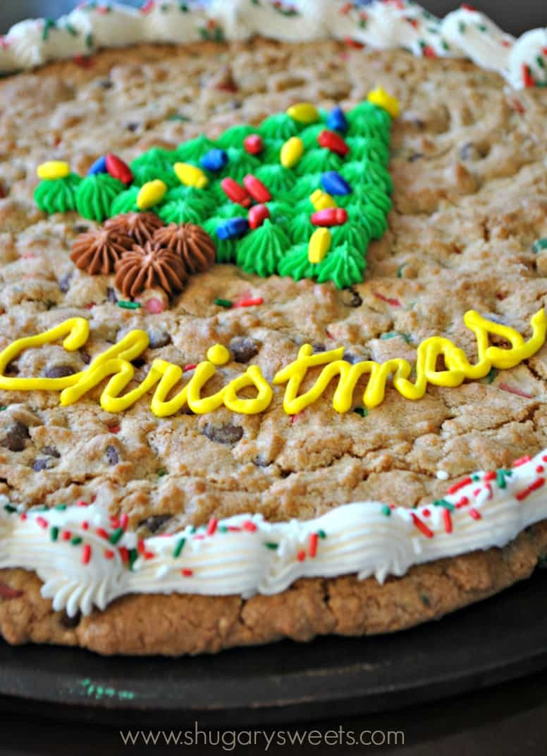 Cake Cookie Recipe  Christmas Cookie Cake Shugary Sweets