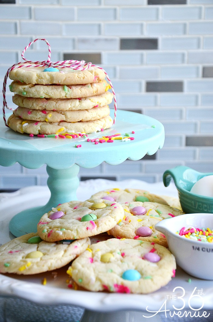 Cake Cookie Recipe  Cookie Recipes Funfetti Cake Mix Cookies The 36th AVENUE