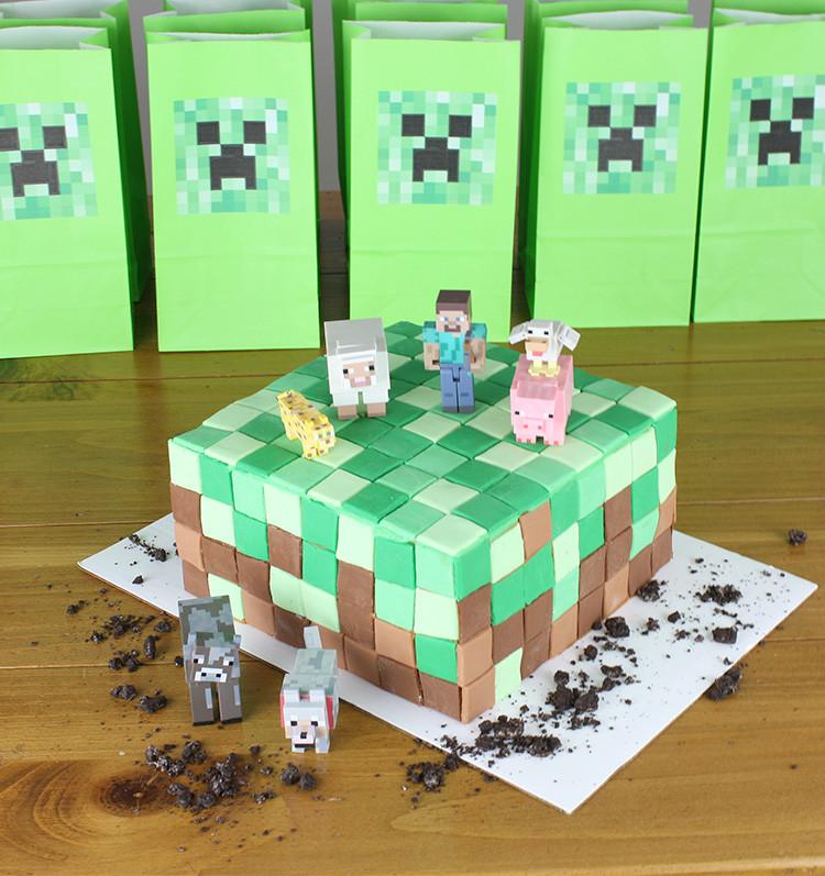 Cake Crafting Recipe  Minecraft Cake • Christina Williams