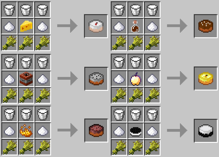 Cake Crafting Recipe  [1 4 7][SMP][Forge]Baked Goods Mod Beta Unique Food in