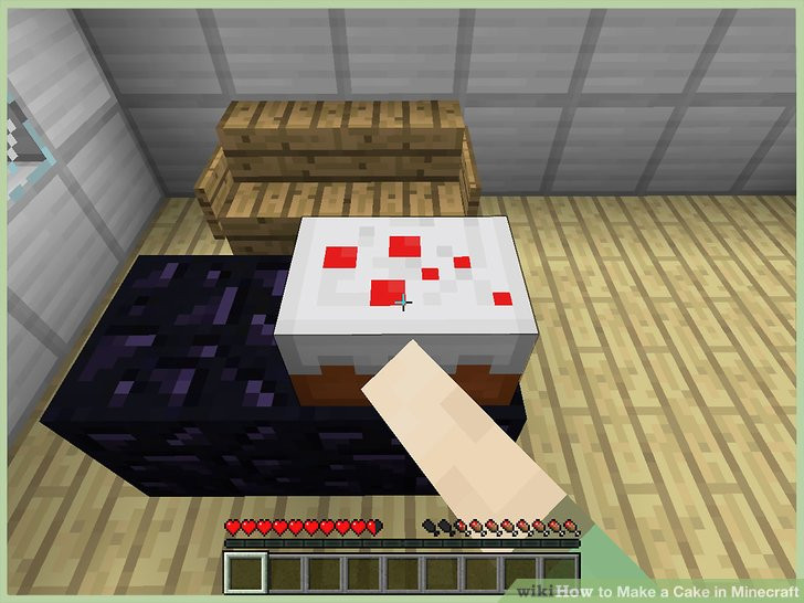 Cake Crafting Recipe  3 Ways to Make a Cake in Minecraft wikiHow