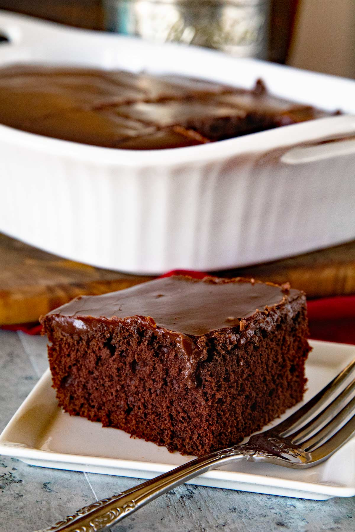 Cake Frosting Recipe  Homemade Chocolate Cake with Chocolate Frosting Julie s