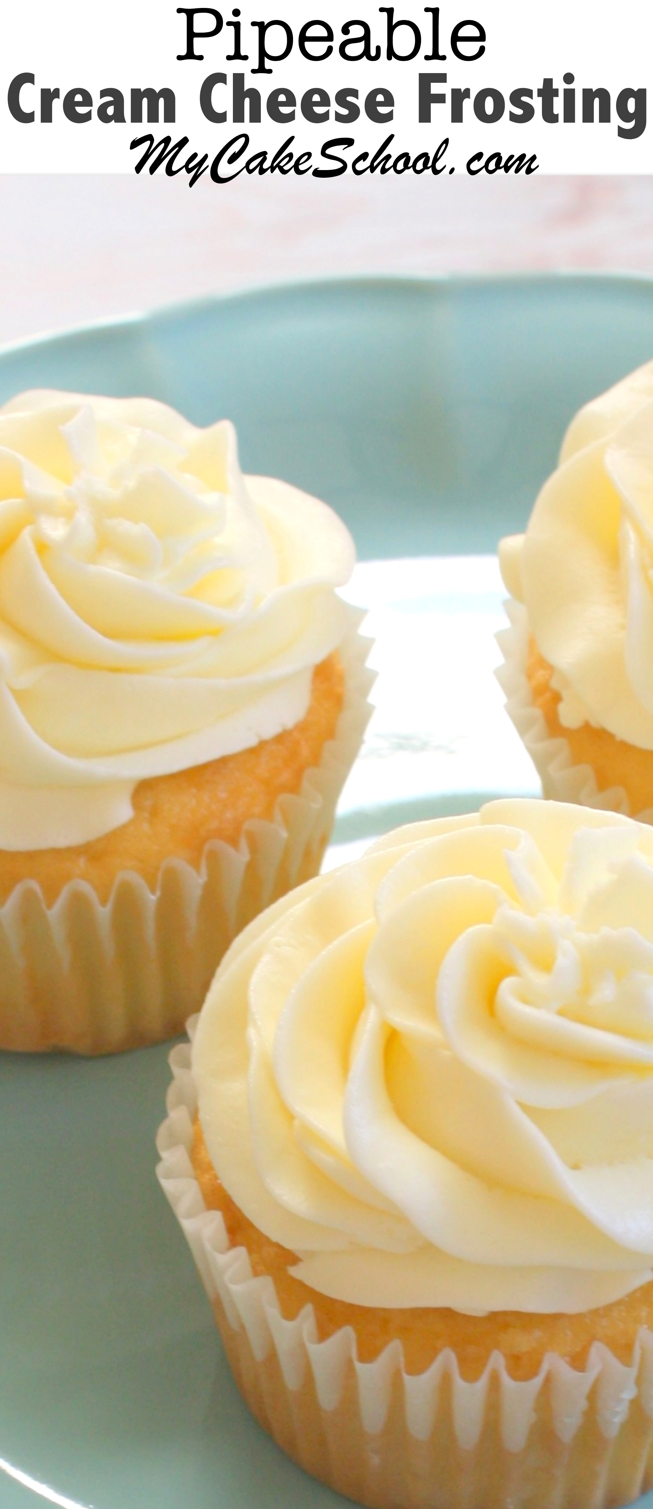 Cake Frosting Recipe  Pipeable Cream Cheese Frosting Delicious