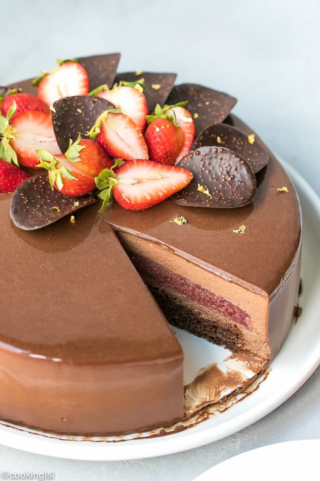 Cake Glaze Recipe  Chocolate Mirror Glaze Recipe Cooking LSL