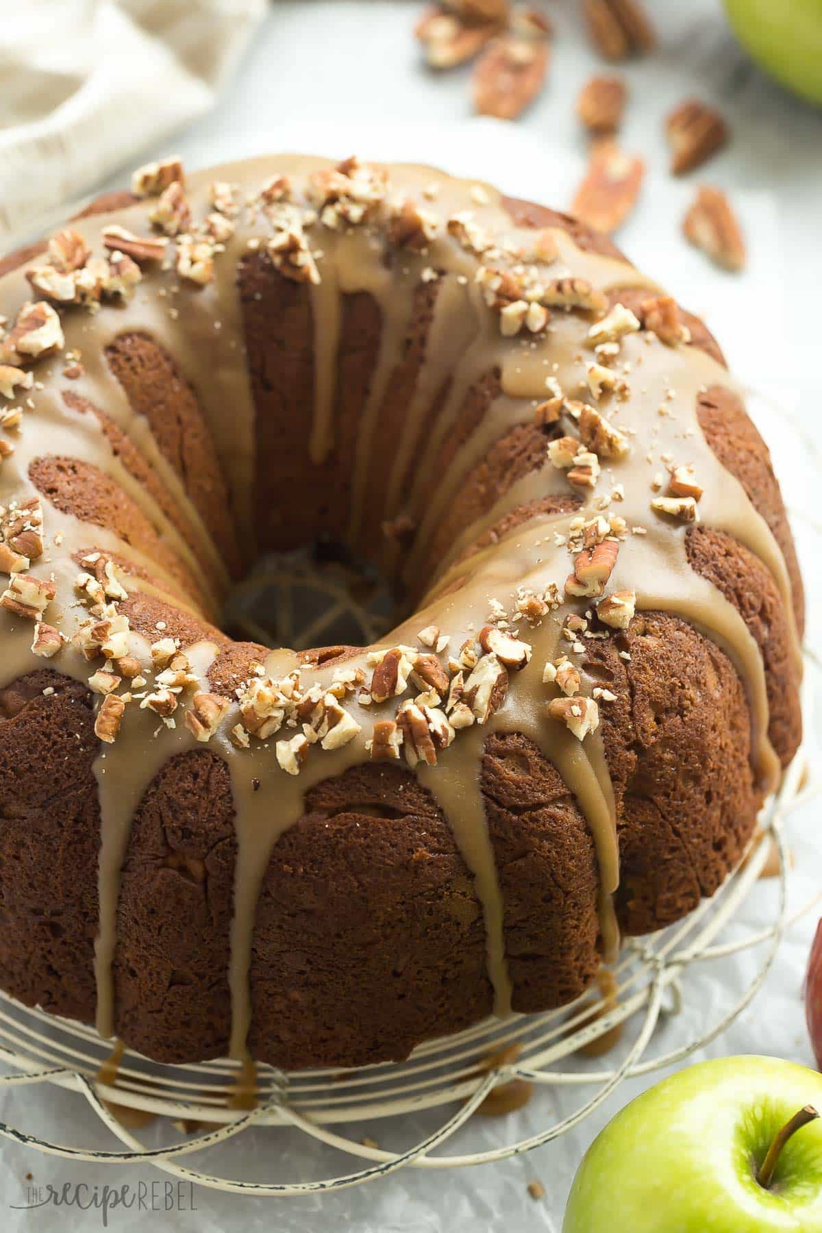 Cake Glaze Recipe  Praline Glazed Apple Bundt Cake Recipe