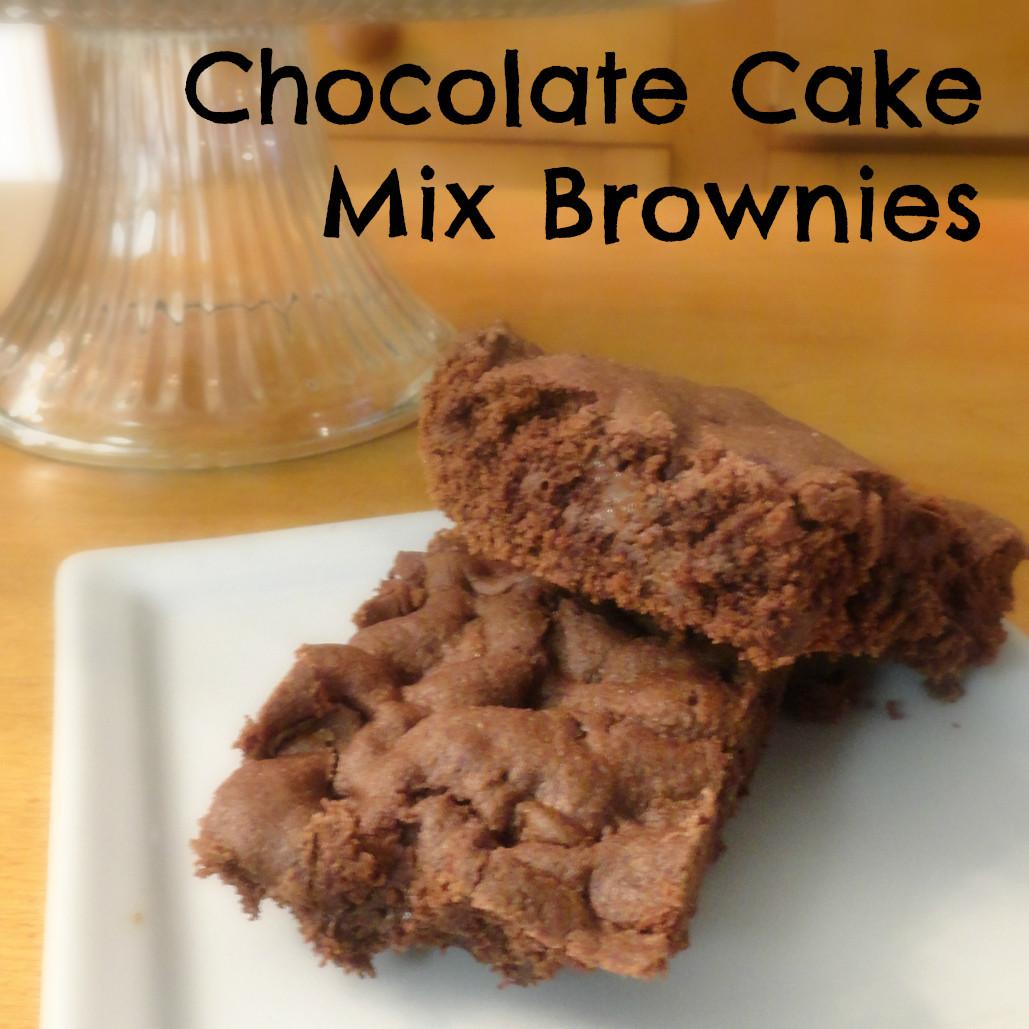 Cake Mix Brownies  Chocolate Chocolate Chip Cake Mix Brownies