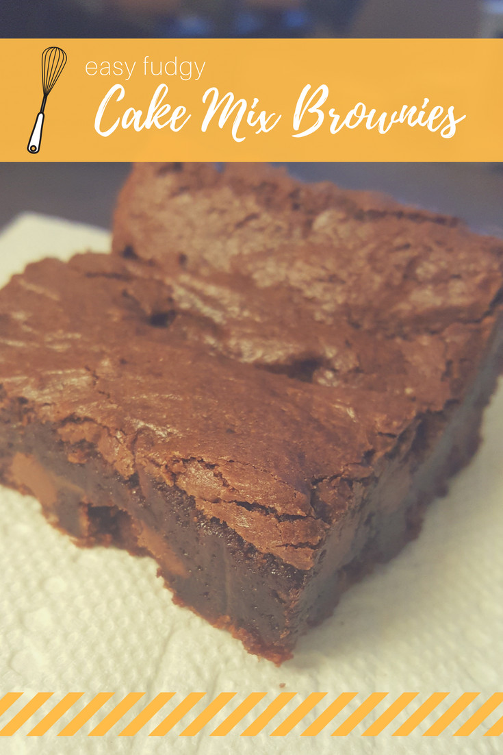 Cake Mix Brownies  Easy Fudgy Cake Mix Brownies recipe