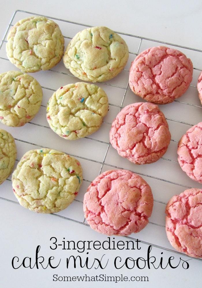 Cake Mix Cookie Recipe  3 Ingre nt Cake Mix Cookies Somewhat Simple