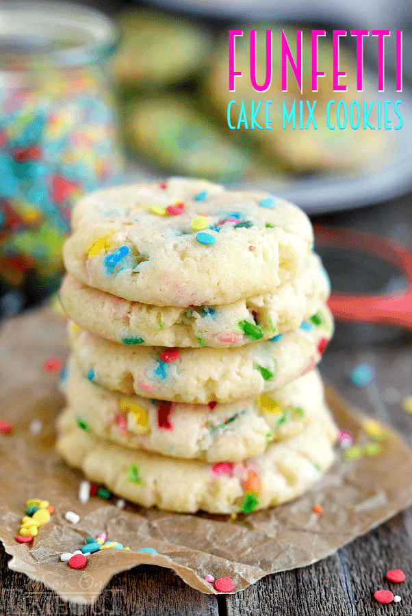 Cake Mix Cookie Recipe  Easy Funfetti Cake Mix Cookies Mom Timeout