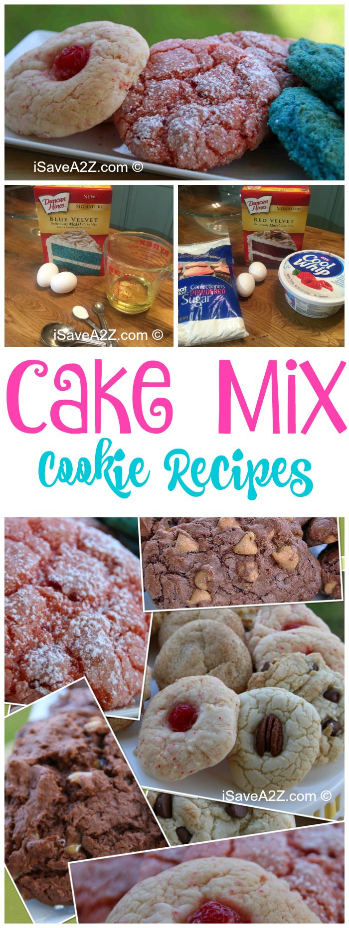 Cake Mix Cookie Recipe  Top 45 Recipe Variations for Cake Mix Cookies iSaveA2Z