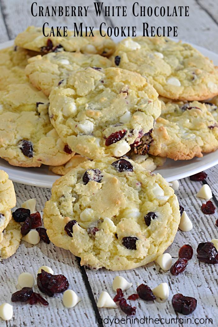 Cake Mix Cookie Recipe  Cranberry White Chocolate Cake Mix Cookie Recipe