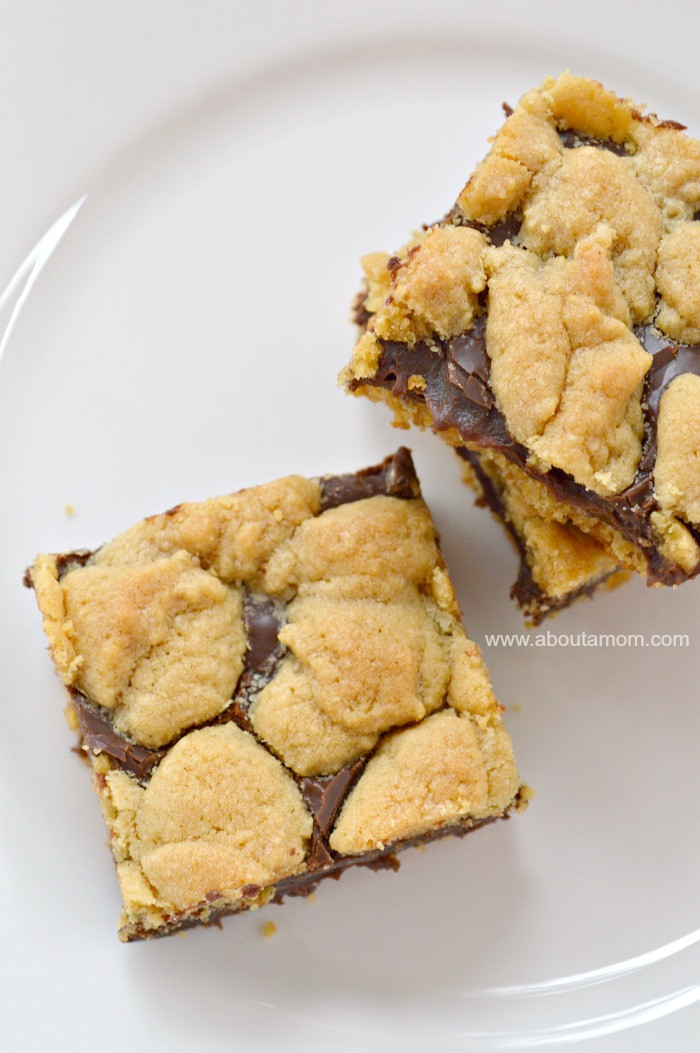 Cake Mix Cookies With Butter  Chocolate Peanut Butter Cake Mix Cookie Bars About A Mom