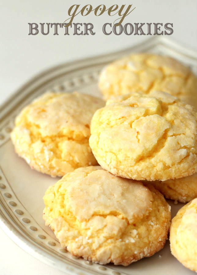 Cake Mix Cookies With Butter  Gooey Butter Cookies – What2Cook