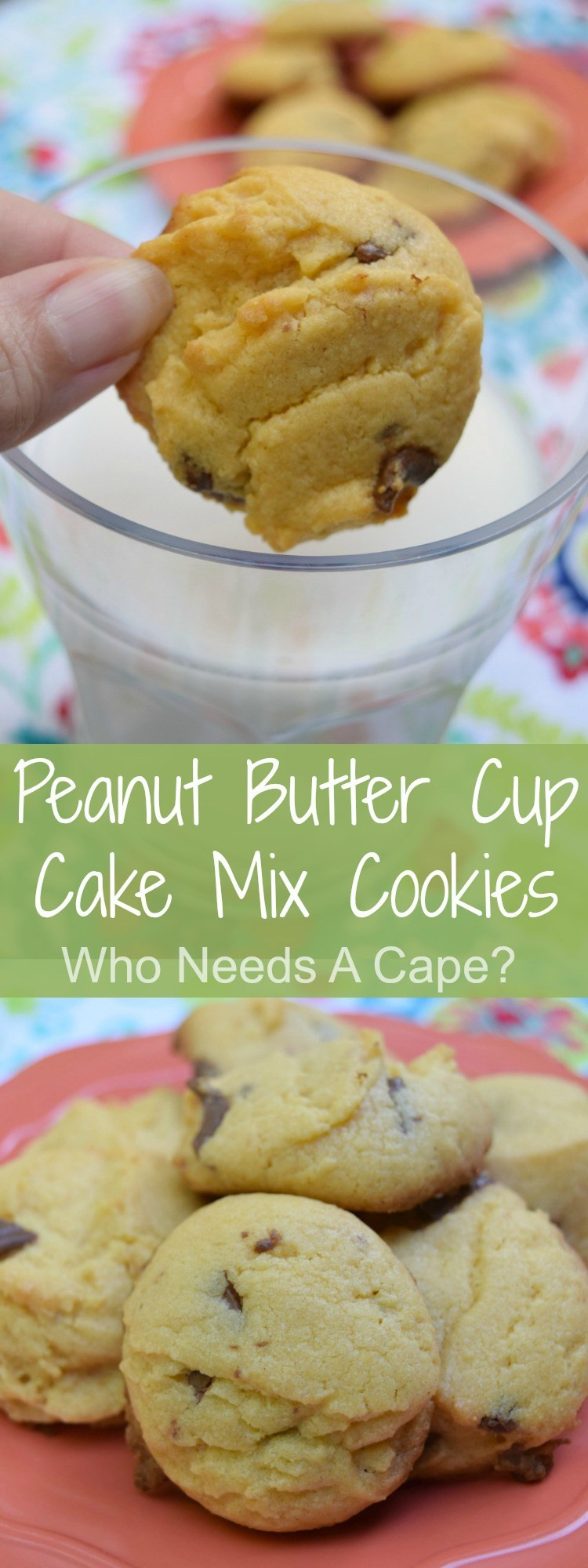 Cake Mix Cookies With Butter  Peanut Butter Cup Cake Mix Cookies Who Needs A Cape