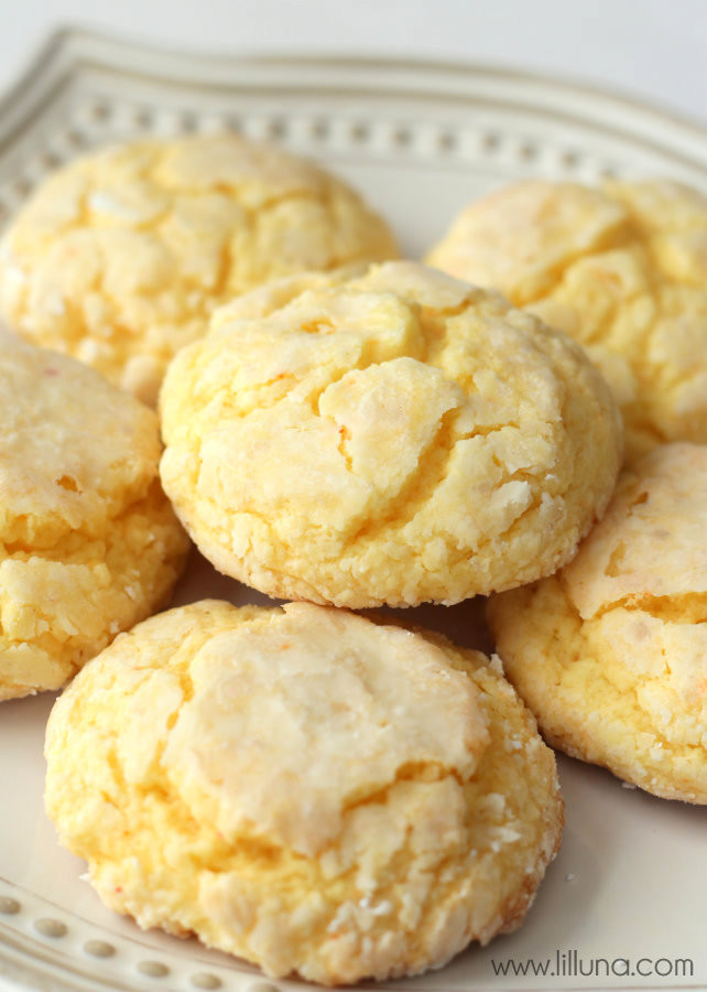 Cake Mix Cookies With Butter  Gooey Butter Cookies Recipe