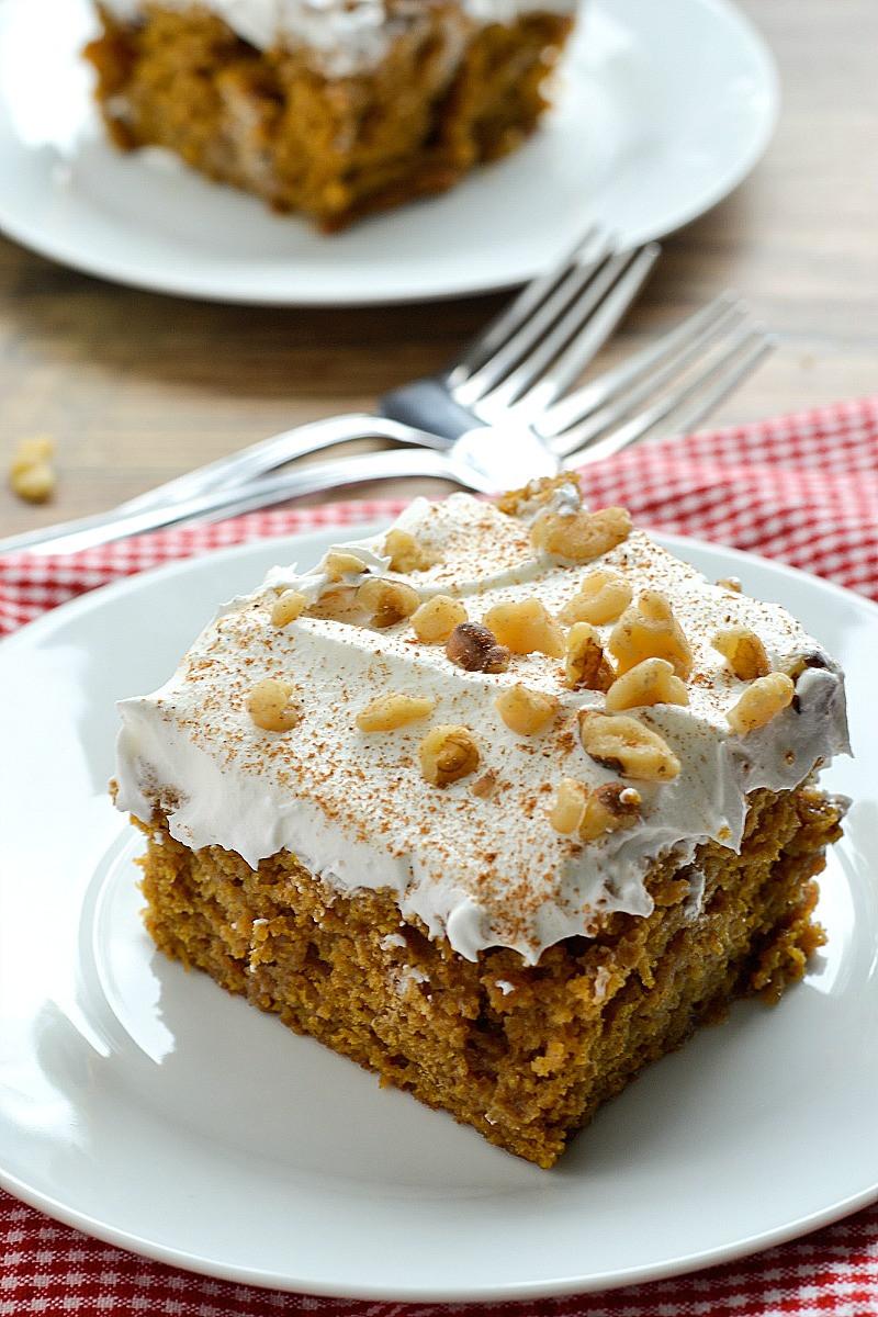 Cake Mix Dessert  Better Than Anything Pumpkin Spice Cake