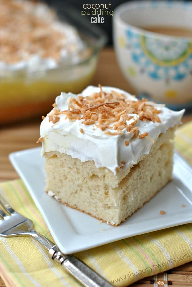 Cake Mix Dessert  Coconut Pudding Cake Shugary Sweets