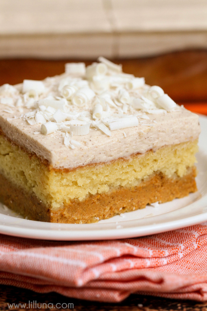 Cake Mix Dessert  Magic Pumpkin Cake