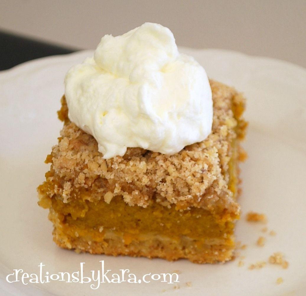 Cake Mix Desserts  Recipe for pumpkin dessert that starts with a cake mix My
