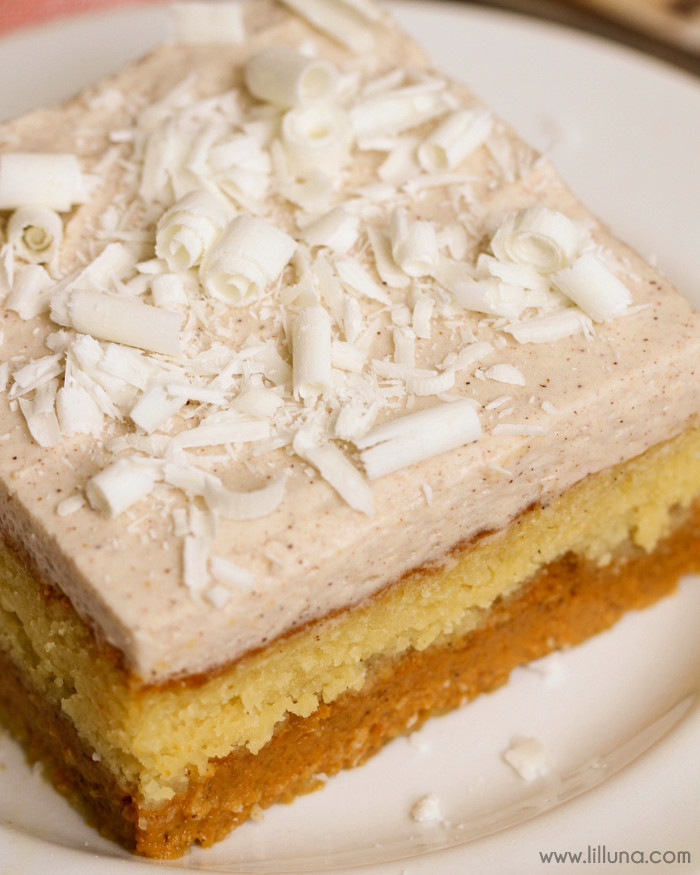 Cake Mix Desserts  pumpkin torte yellow cake mix