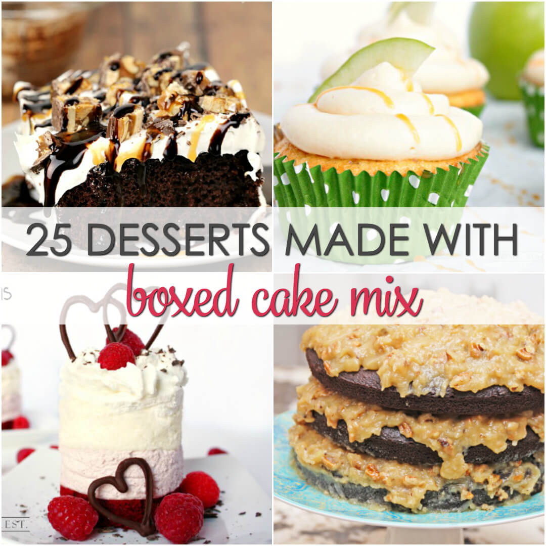 Cake Mix Desserts  25 Desserts Made with Boxed Cake Mix