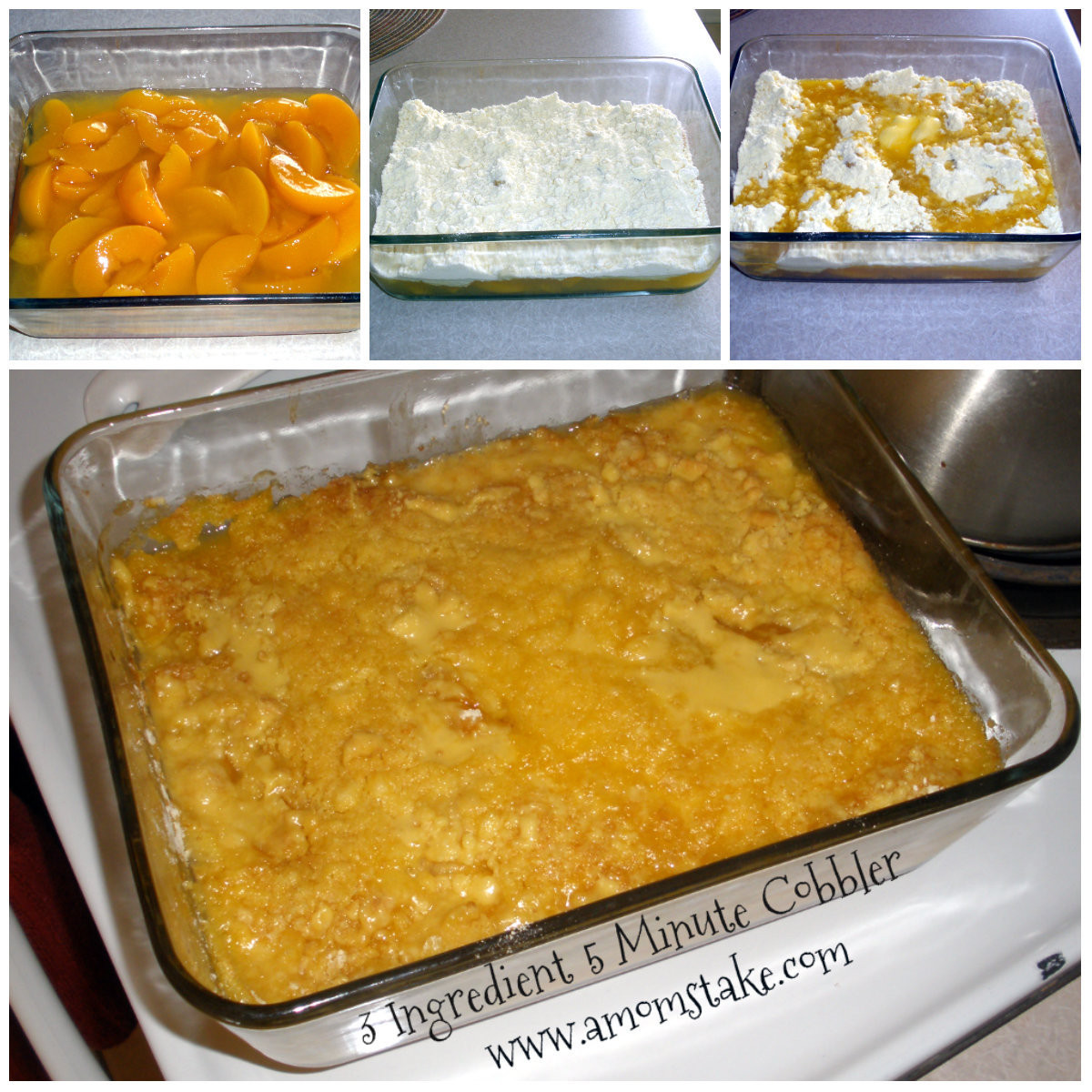Cake Mix Peach Cobbler  3 Ingre nt Peach Cobbler with Cake Mix in 5 minutes