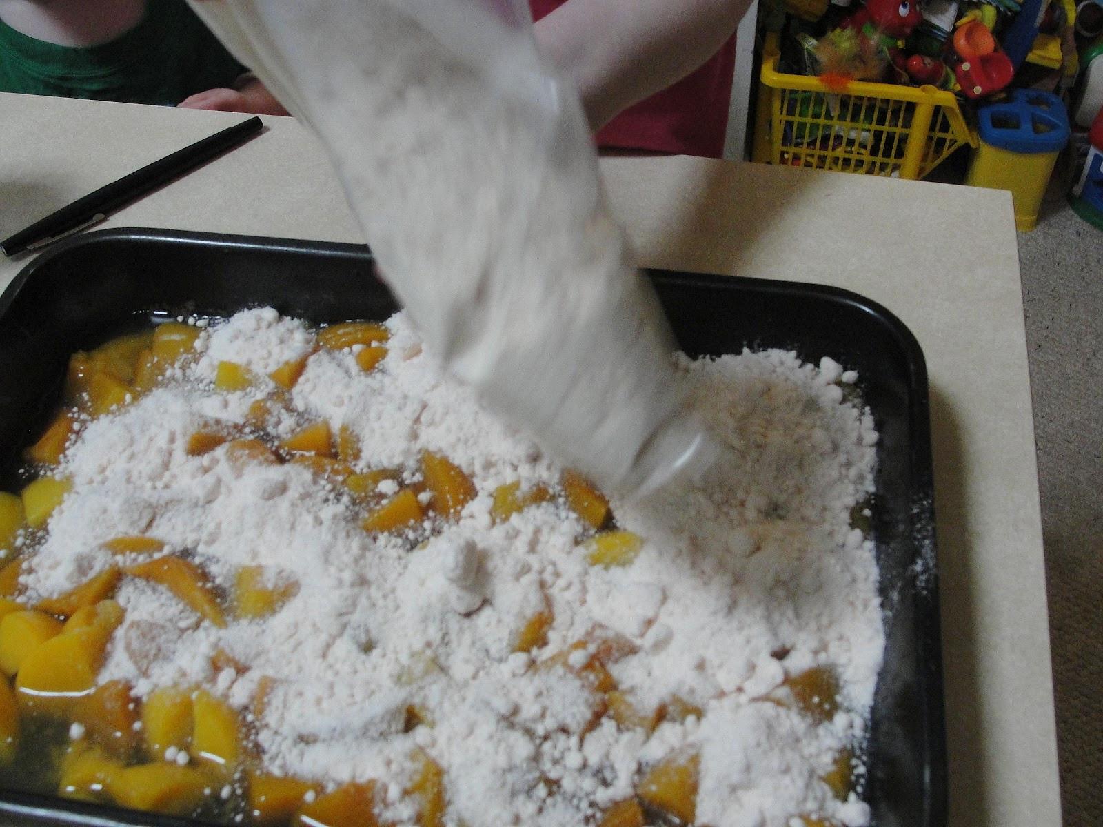 Cake Mix Peach Cobbler  C Mom Cook Super Easy Peach Cake Cobbler