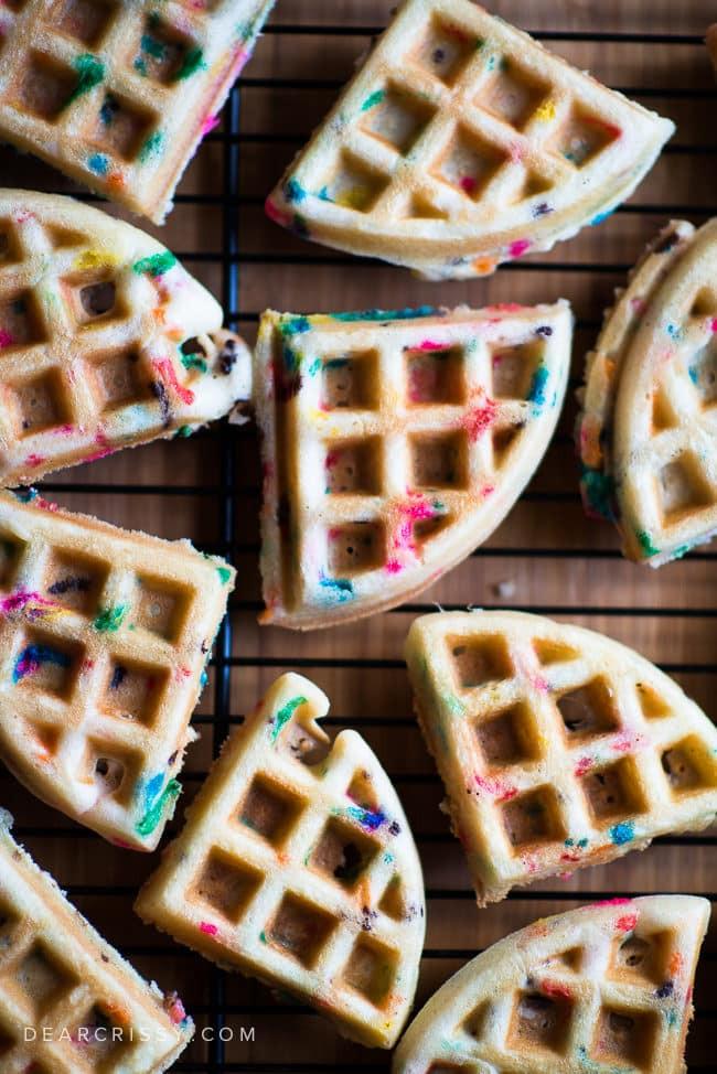 Cake Mix Waffles  Cake Batter Birthday Waffles Festive Funfetti Cake Mix