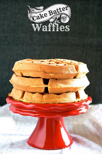 Cake Mix Waffles  Cake Batter Waffles