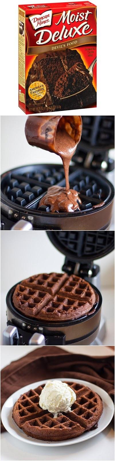Cake Mix Waffles  Cake Mix Waffles