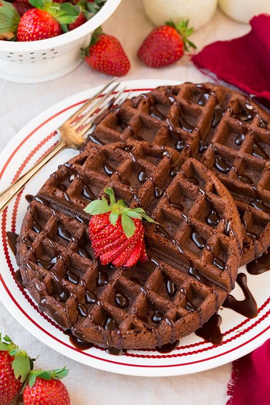 Cake Mix Waffles  Chocolate Cake Mix Waffles only 4 Ingre nts Cooking