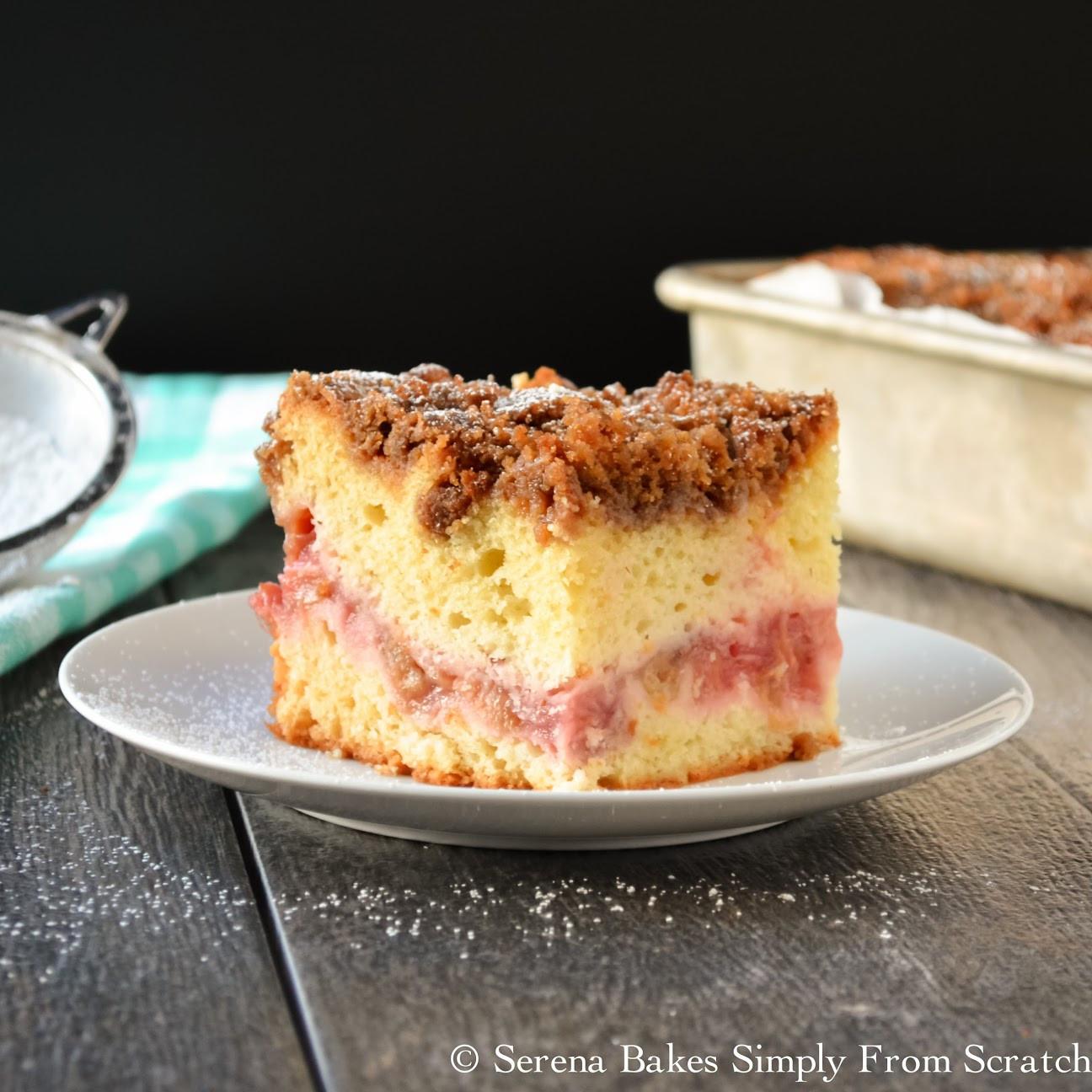 Cake Recipe From Scratch  Strawberry Rhubarb Coffee Cake