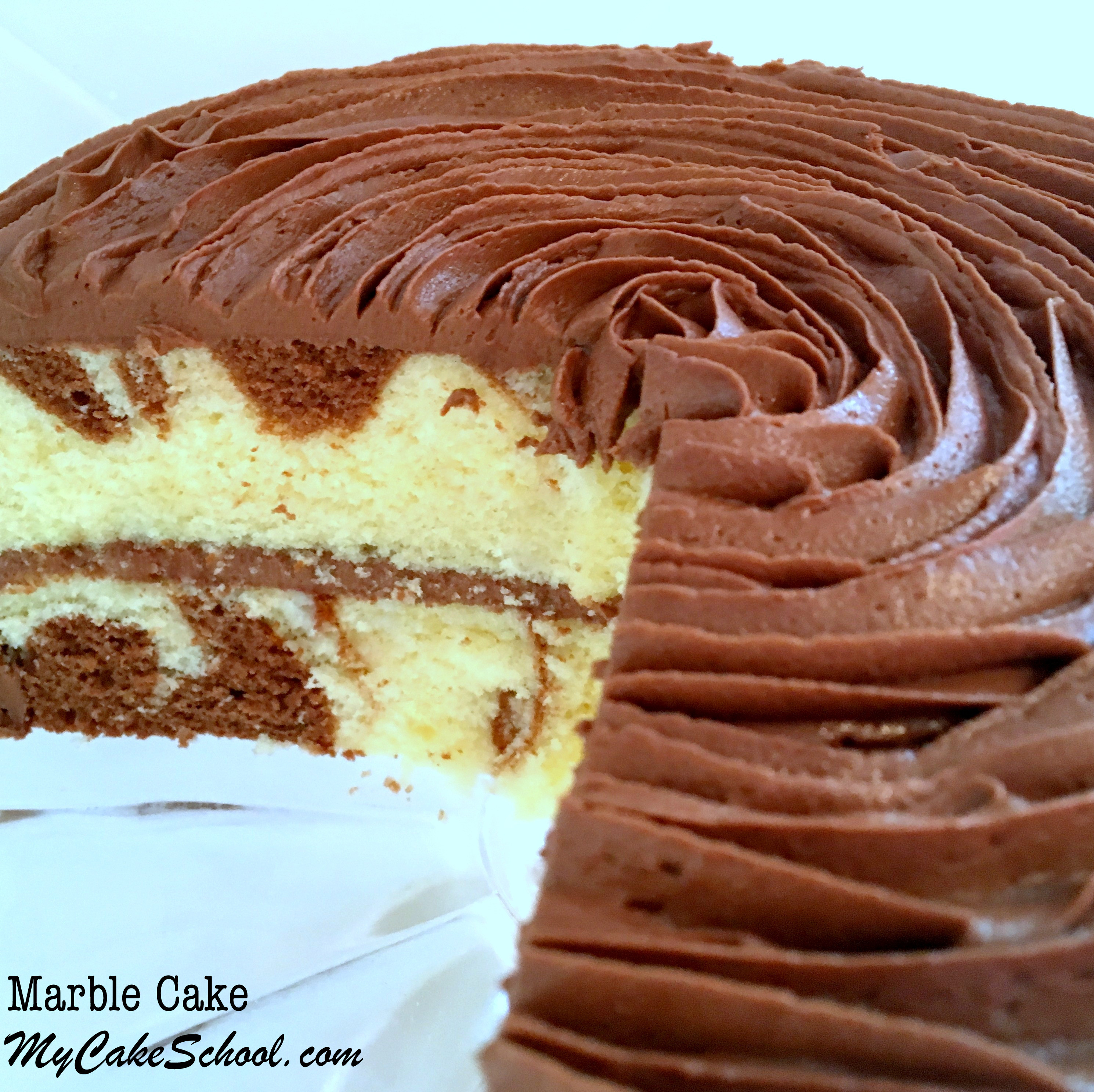 Cake Recipe From Scratch  Moist and Delicious Marble Cake from Scratch