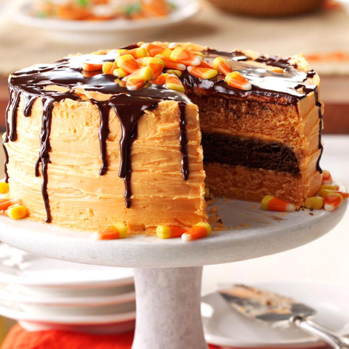 Cake Recipe Ideas  Halloween Layer Cake Recipe