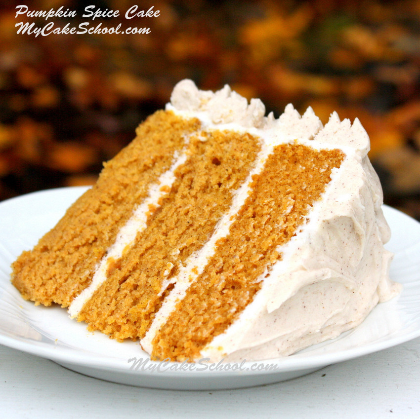 Cake Recipes From Scratch  Delicious Moist Pumpkin Spice Cake Recipe from Scratch